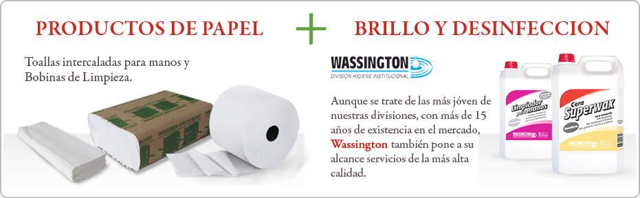 Productos de Papel + Desinfeccion y Brillo